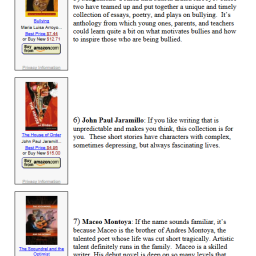 """2013 top ten """"new"""" latino authors to watch (and read)"""