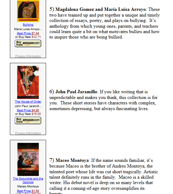 """2013 top ten """"new"""" latino authors to watch (andread)"""