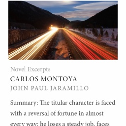 carlos montoya novel excerpt at the write launch