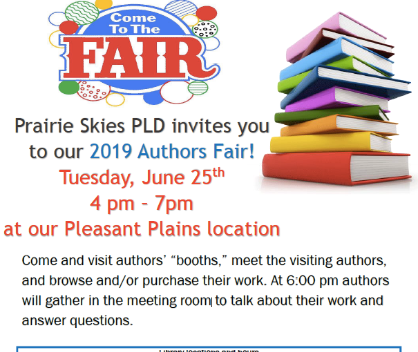pleasant plains library authors fair